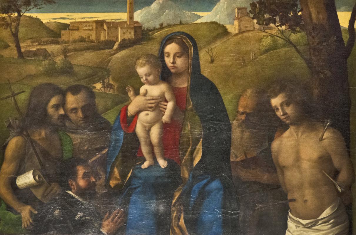 Джованни Беллини. Мадонна с младенцем и святыми