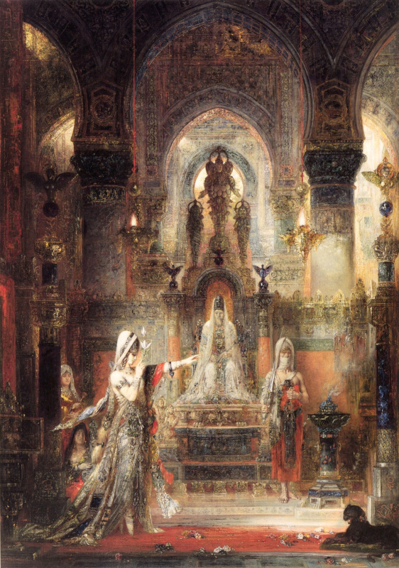 Gustave Moreau. Salome dancing before Herod