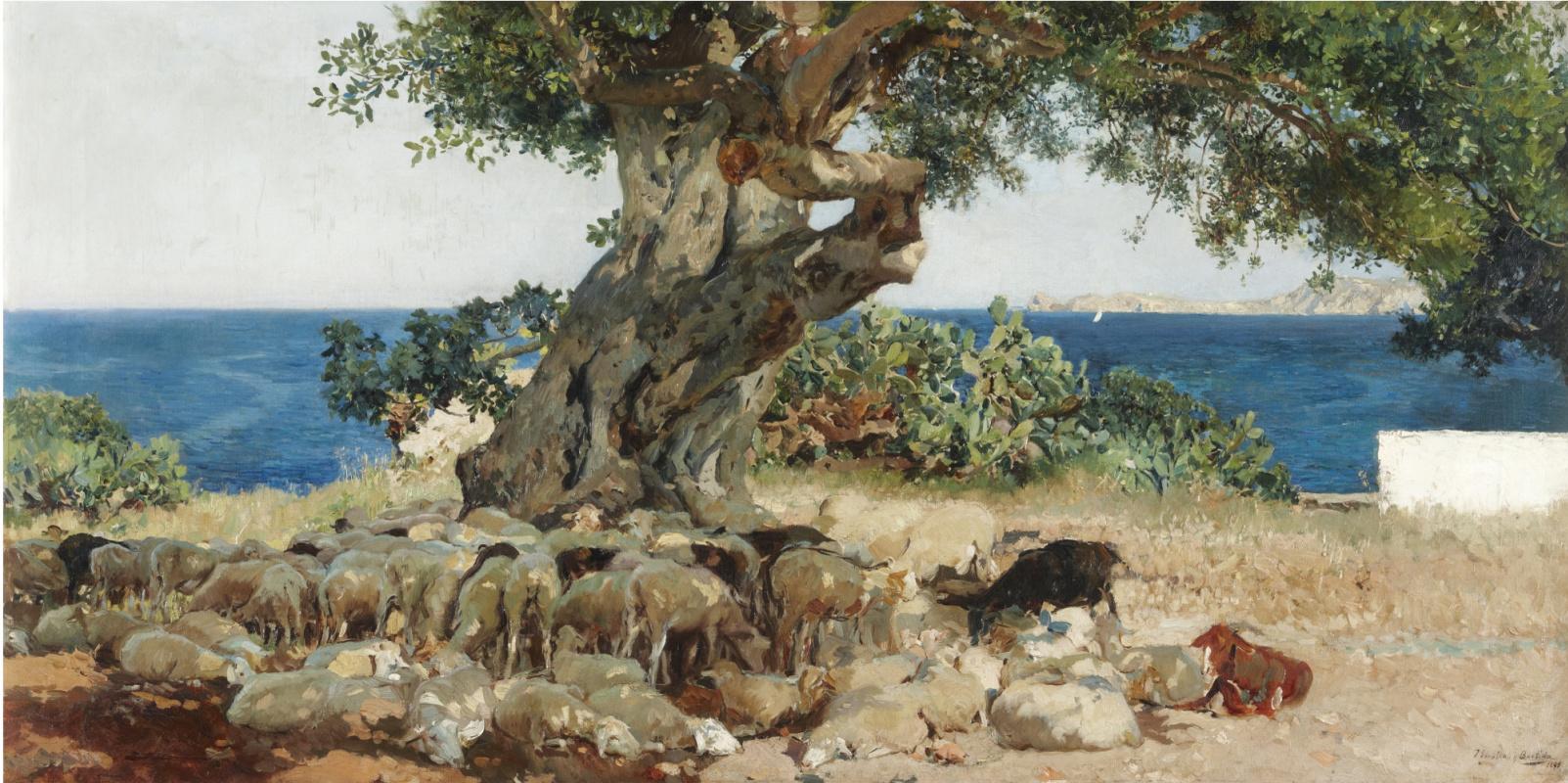 Хоакин Соролья (Соройя). Рожковое дерево