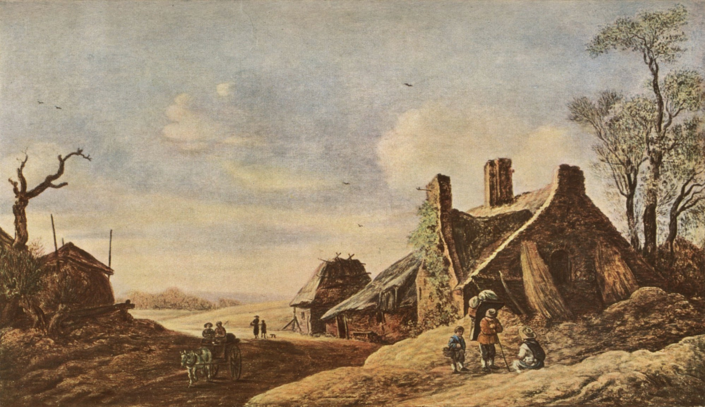 Jan van Goyen. Rural landscape with wagon
