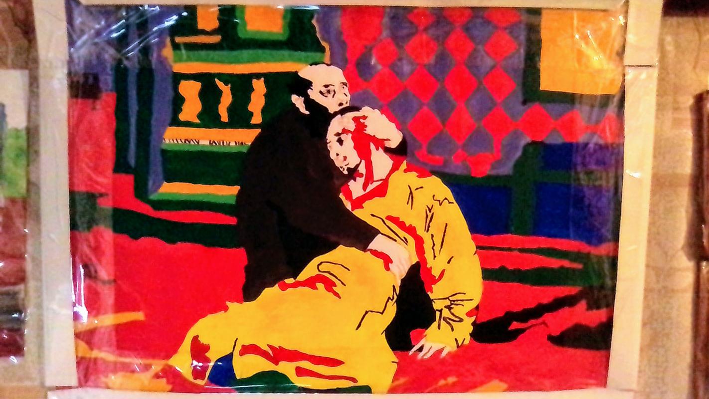 Unknown artist. Иван грозный и его сын