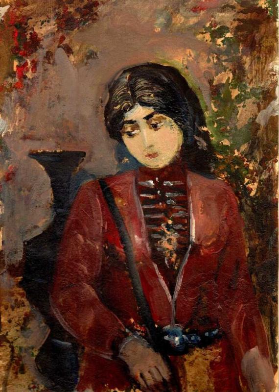 Арби Абдул-Каримович Рассуханов. Портрет женщины