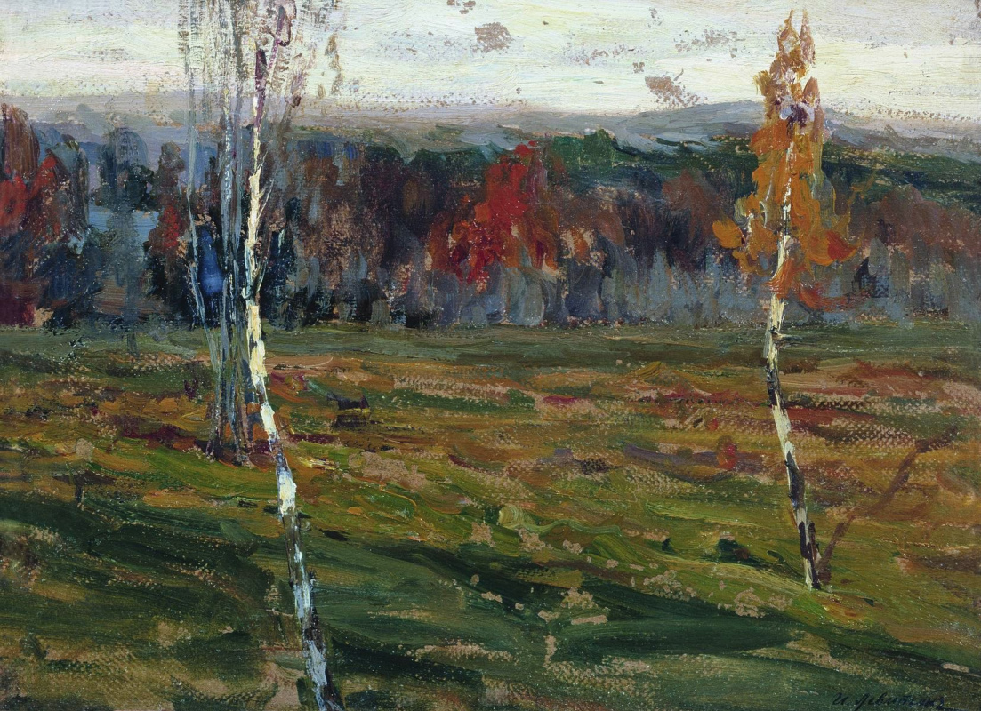 Isaac Levitan. Autumn. Birch