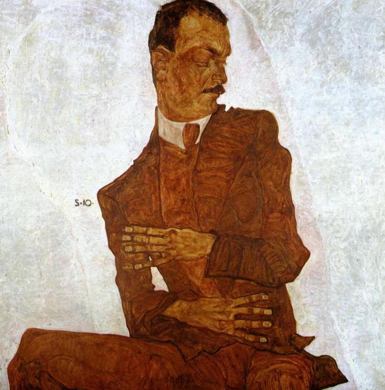 Egon Schiele. Portrait Of Arthur Wrestler