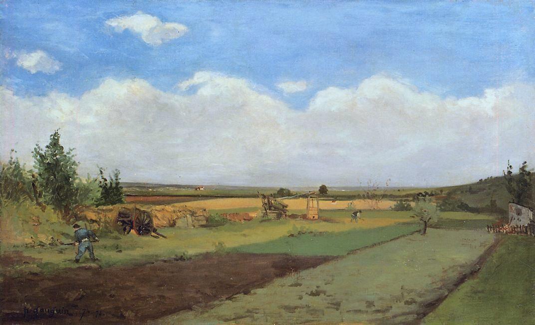 Paul Gauguin. Working the land
