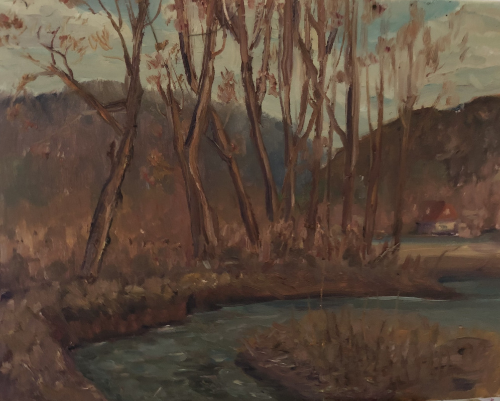 Виктория Мальшакова. У горной реки . Оттепель.