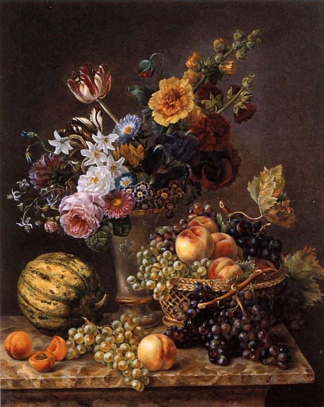 Мари-Жозефина Хеллеманс. Ваза с цветами
