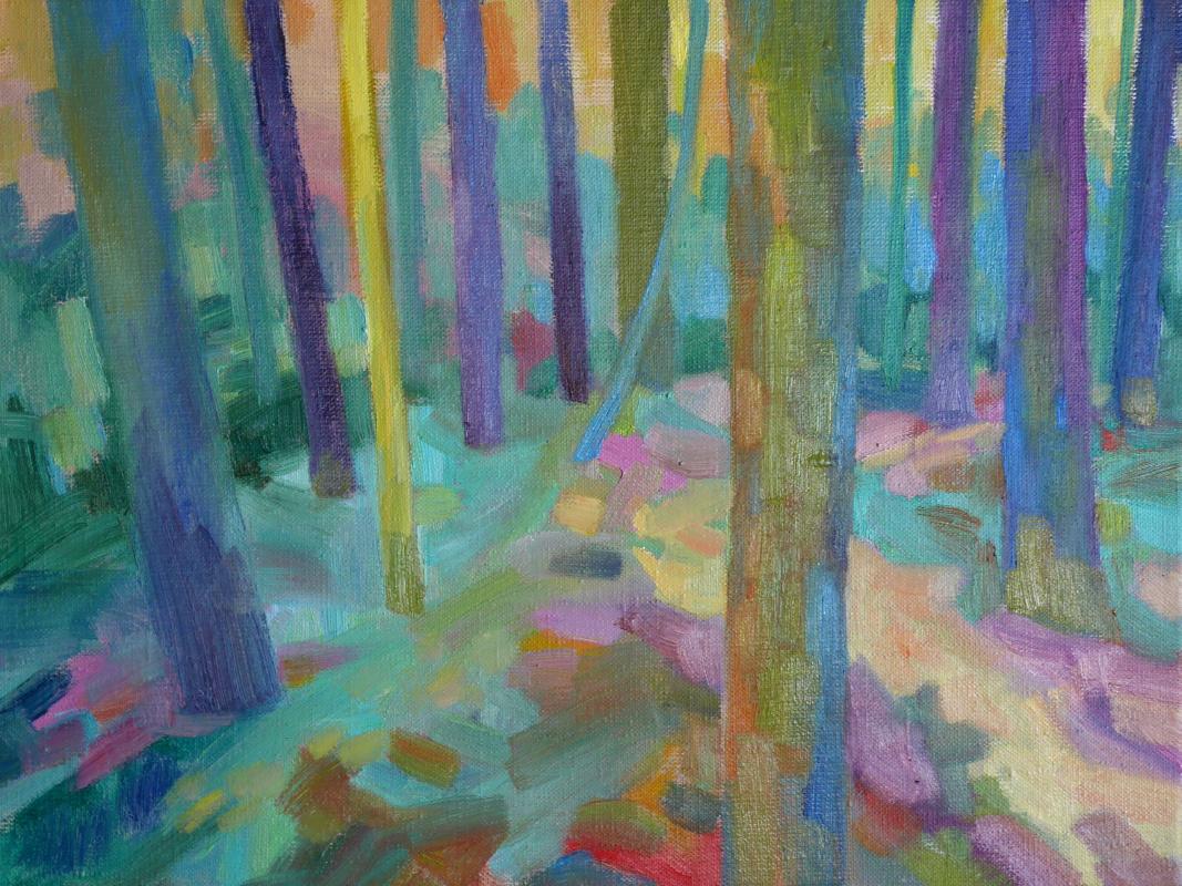 Марианна Маслова. Еловый лес в Ворохте, Карпаты