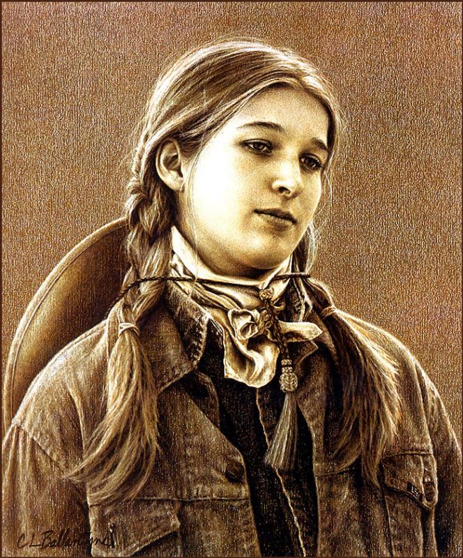 Кэрри Баллантайн. Портрет девушки