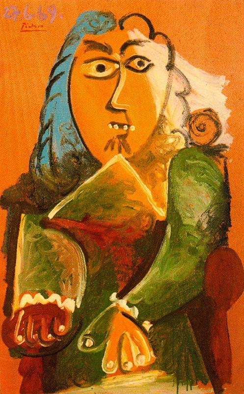 Пабло Пикассо. Мужчина, сидящий в кресле 2