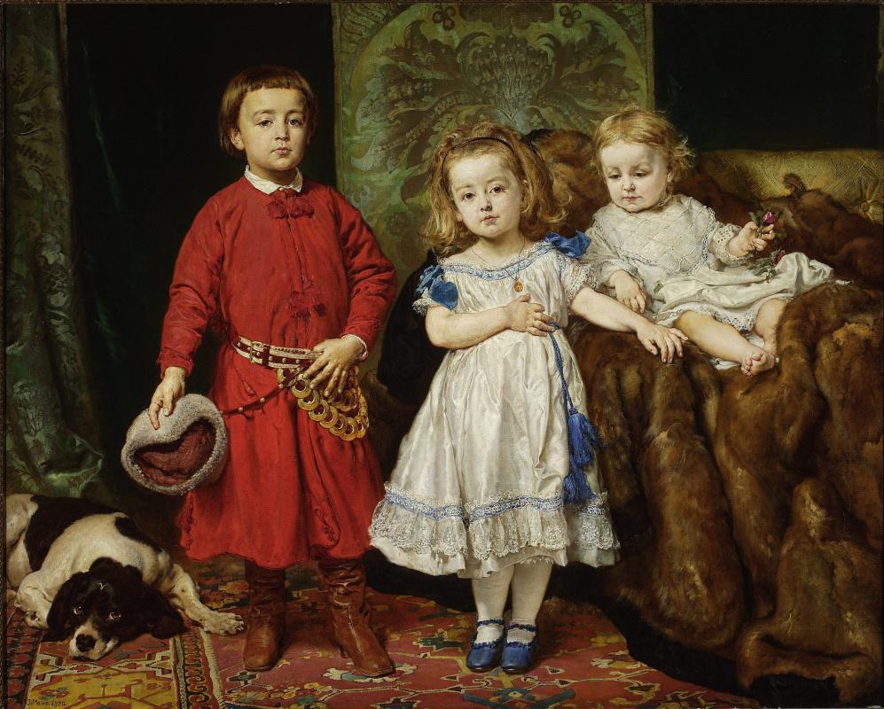 Ян Матейко. Портрет детей художника