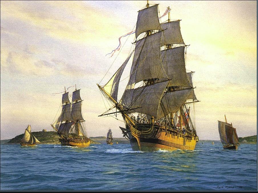 Марк Майерс. Парусное судно 1