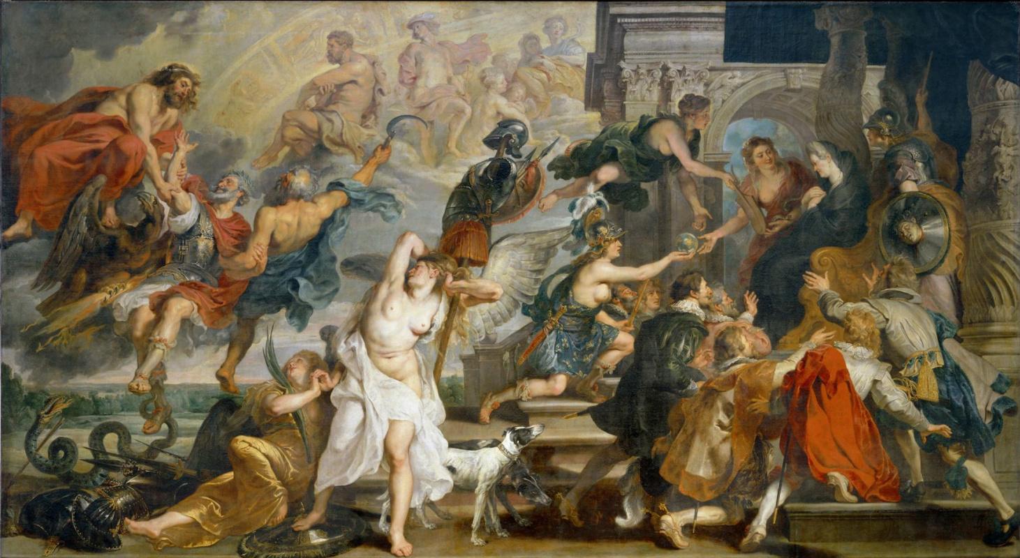 Питер Пауль Рубенс. Смерть Генриха IV и провозглашение регентства (из цикла Марии Медичи)