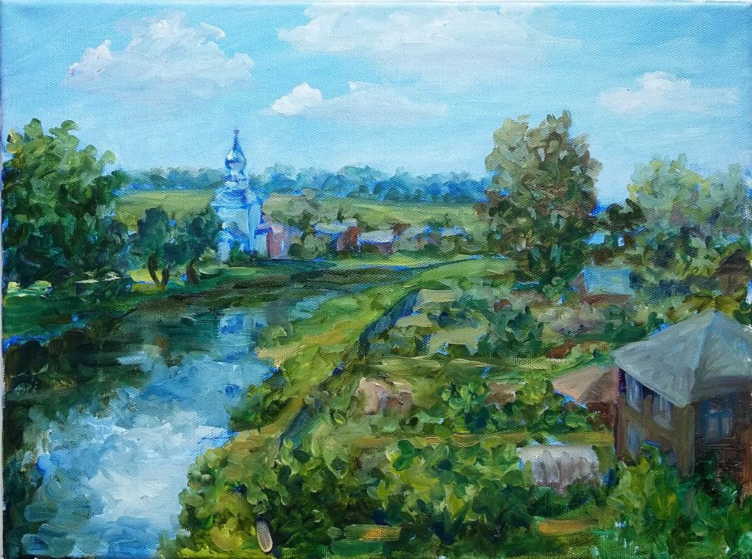 Elena Igorevna Sakharova. Summer day in Suzdal