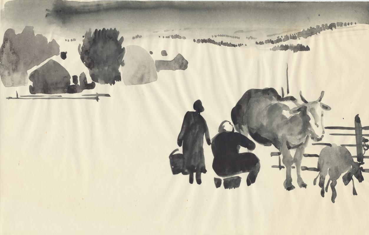 Balto Lyksokov. Winter in Aga