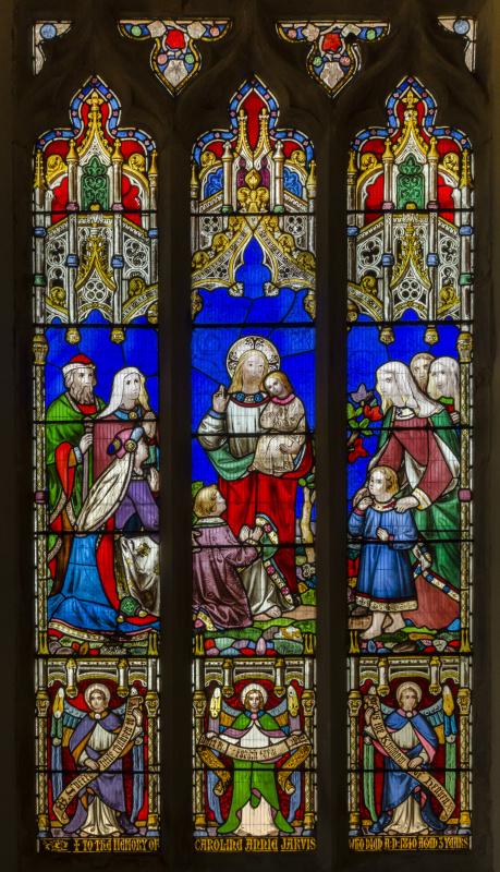 Уильям Моррис. Благословение детей. Витраж церкви Святого Петра в Доддингтоне