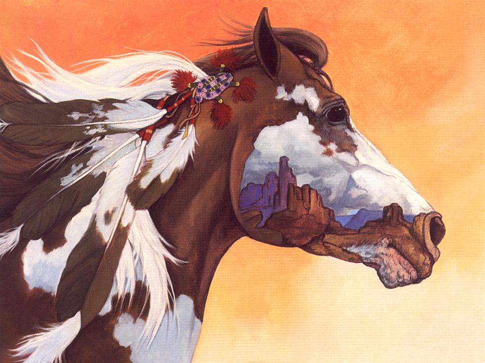 Эмилия Турень. Изображение лошади