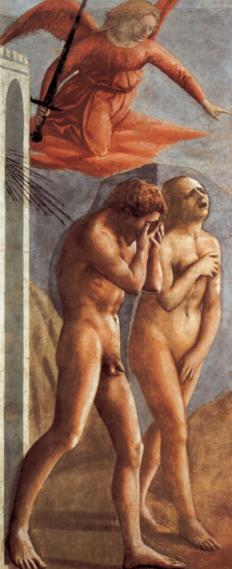 Tommaso Masaccio. The expulsion of Adam and eve from the earthly Paradise