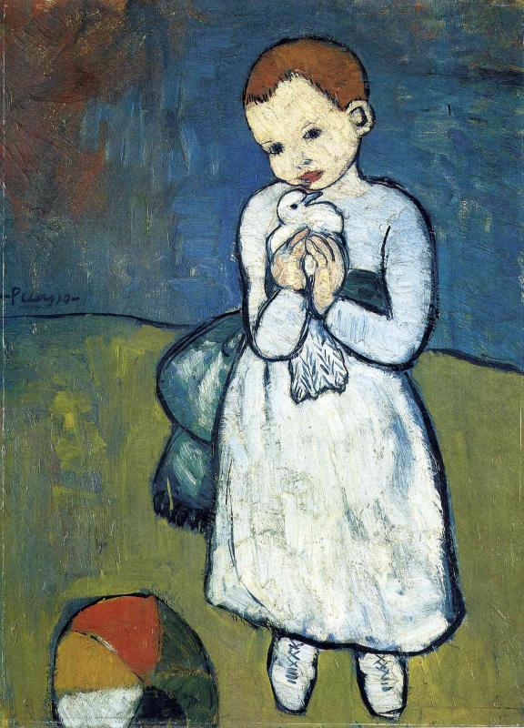 Pablo Picasso. Child with a dove