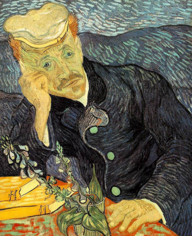 Vincent van Gogh. Portrait of doctor Gachet