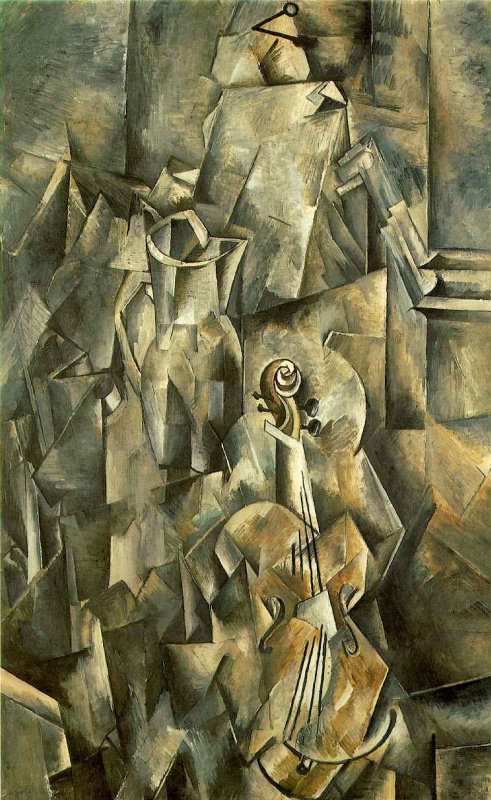 Georges Braque. Violin and pitcher