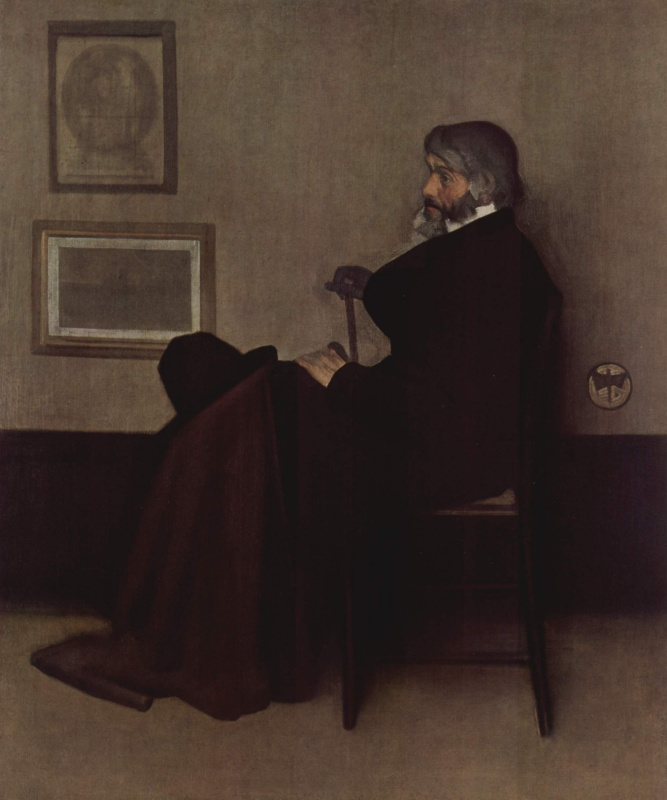James Abbot McNeill Whistler. Arrangement in gray and black No. 2. Portrait Of Thomas Carlyle