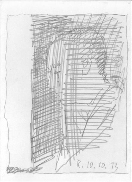 "Gerhard Richter. Self-portrait 6 (Series ""100 self-portraits"")"