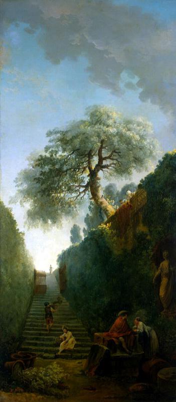 Hubert Robert. Green wall