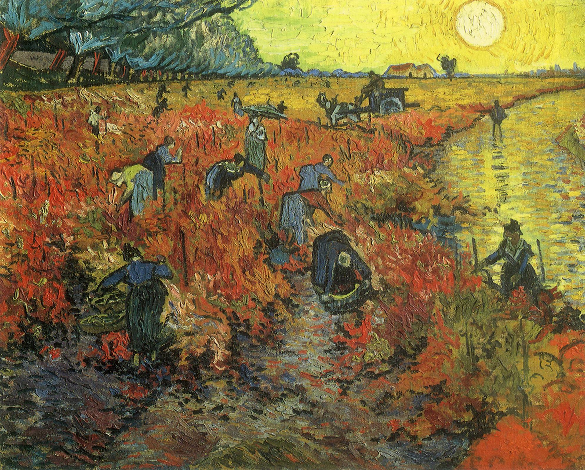 Vincent van Gogh. Red Vineyards at Arles