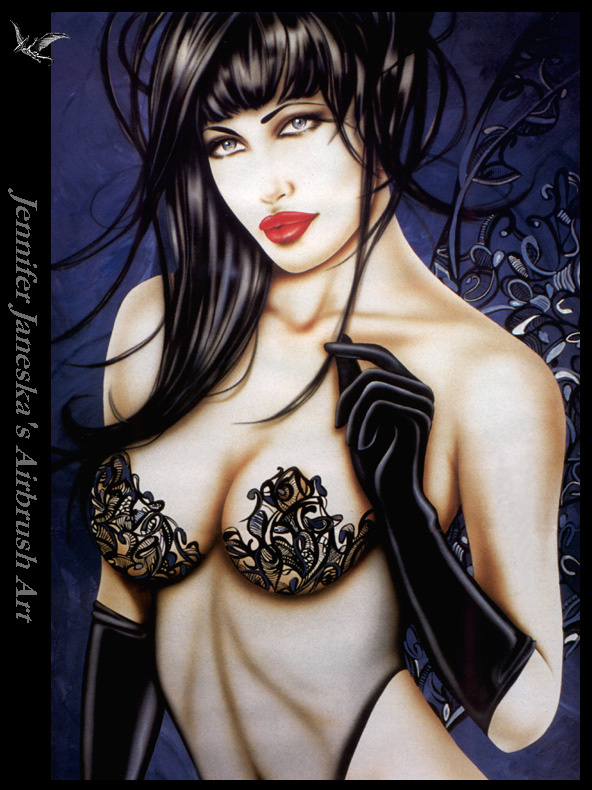 Jennifer Ianesco. Black gloves