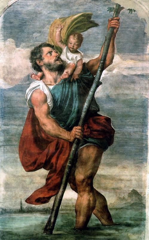 Тициан Вечеллио. Святой Христофор
