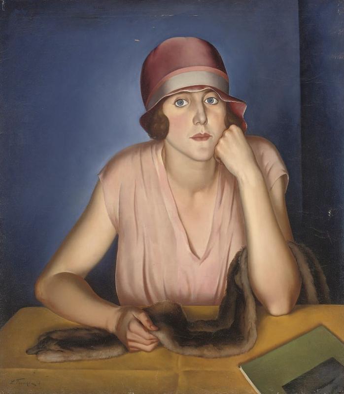 Леонид Исаакович Фрешкоп. Портрет жены художника. 1928
