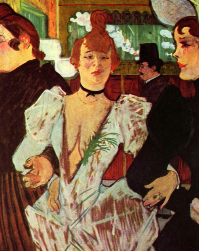 "Henri de Toulouse-Lautrec. La goulue with her friends is included in ""Moulin Rouge"""