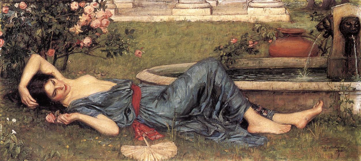 John William Waterhouse. Sweet summer