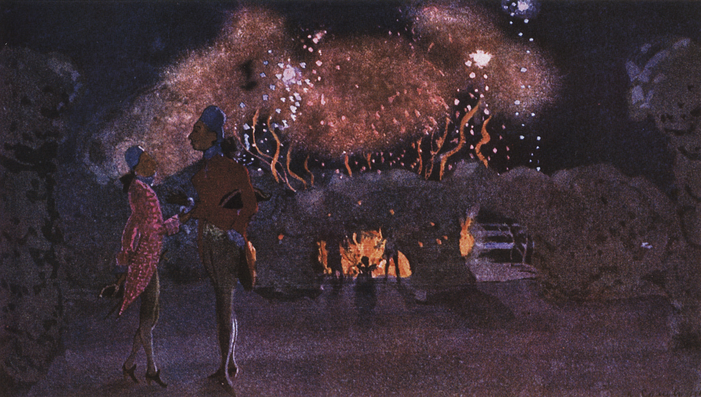 Constantin Somov. Fireworks