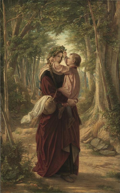 Леопольд Боде. Мать с ребёнком (из «Хроник странствующего студента» Клеменса Брентано)
