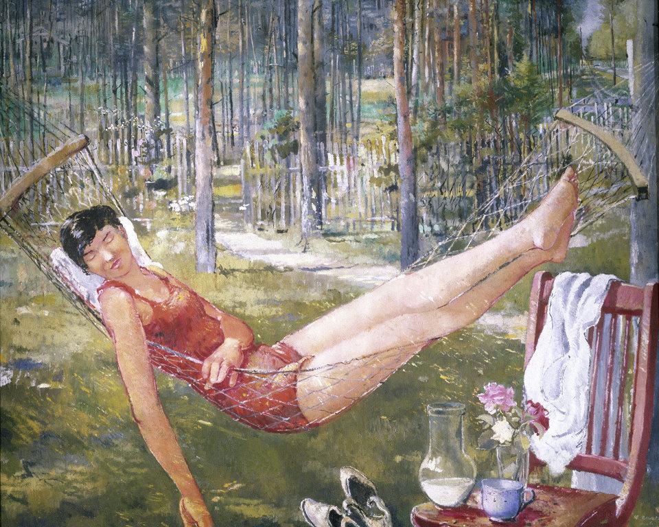 Юрий Иванович Пименов. Женщина в гамаке