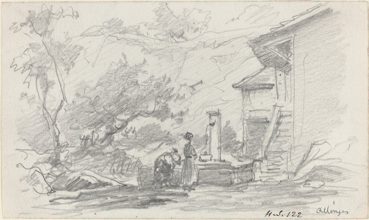Eugene Boudin. The woman at the well
