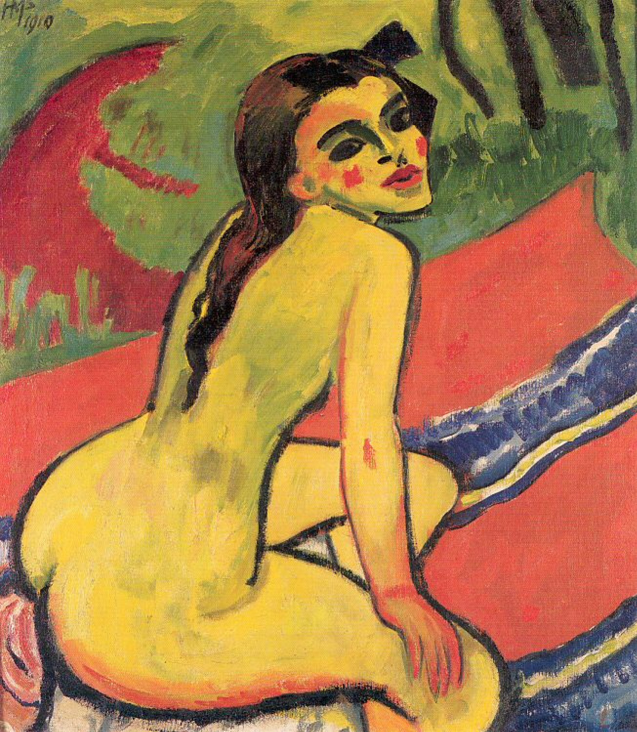 Max Pehshtein. Seated Nude