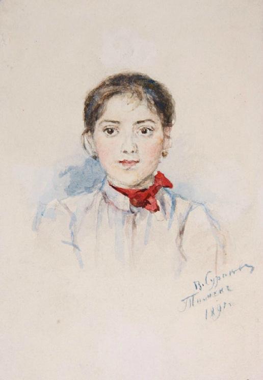Vasily Ivanovich Surikov. Girl. Tomsk