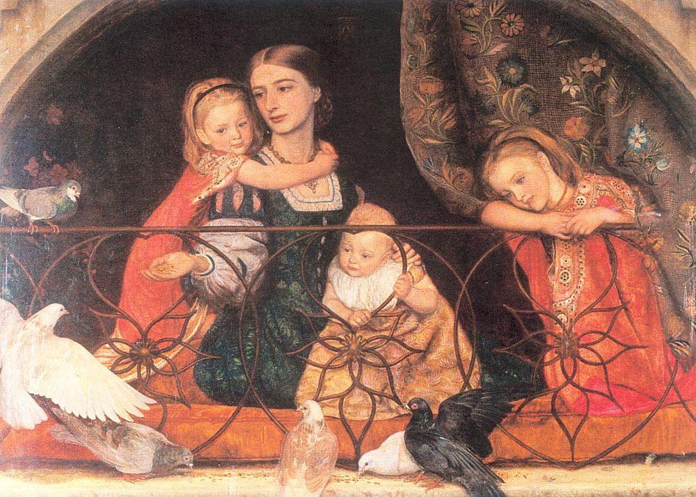 Arthur Hughes. Mrs. Leifart with three children