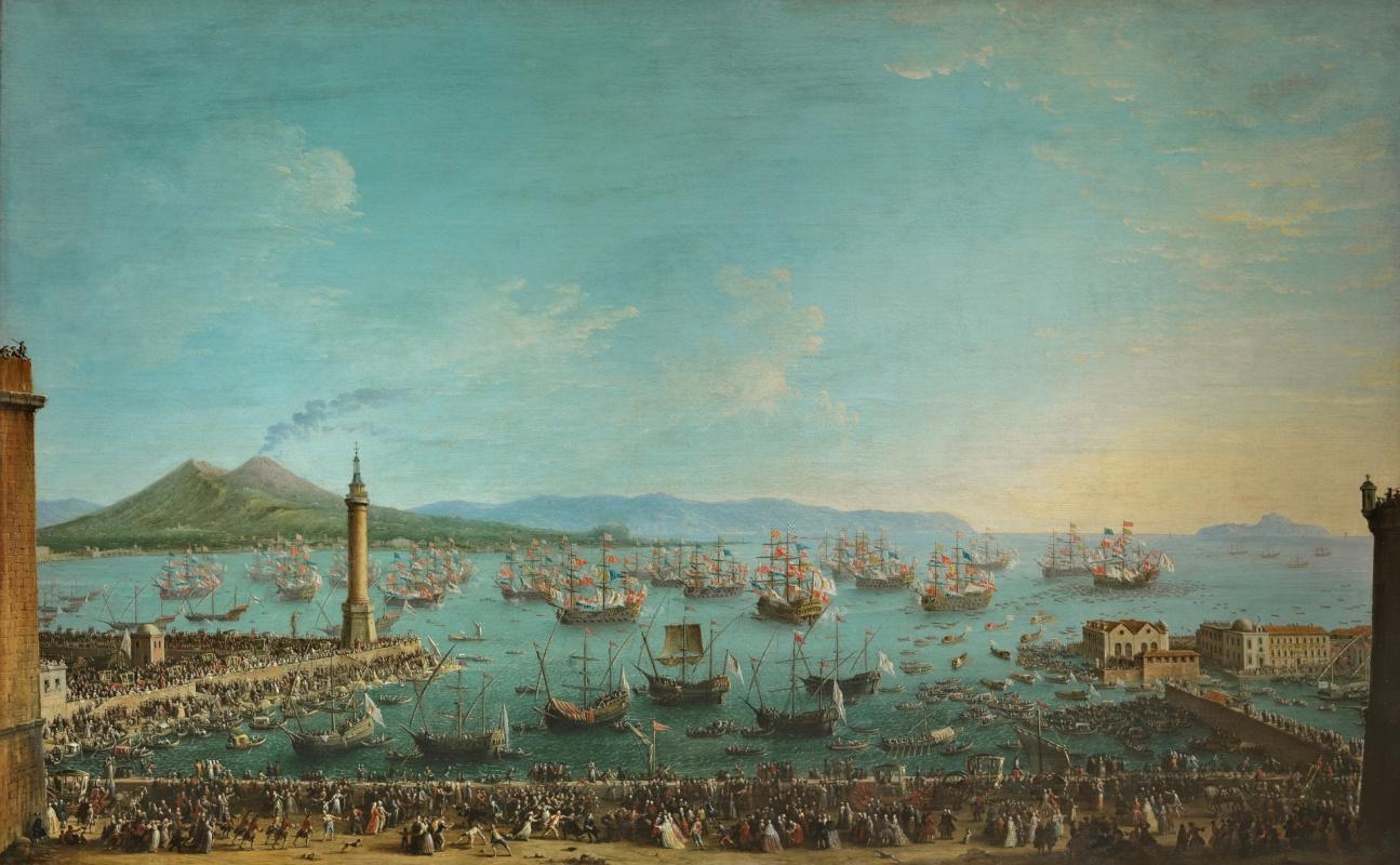 Антонио Джоли. Карл де Бурбон прибывает из Неаполя, чтобы занять испанский престол