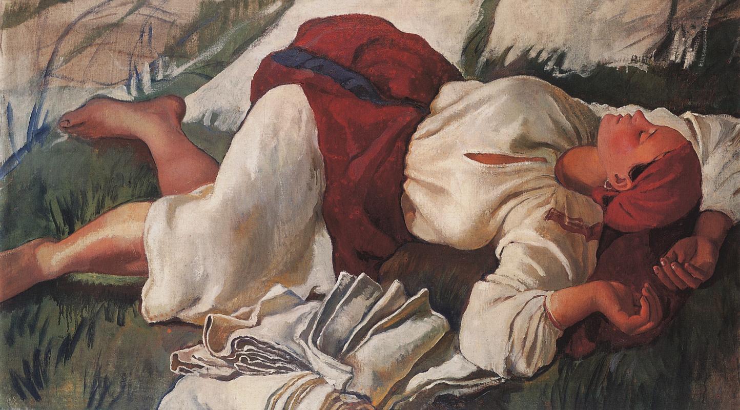 Зинаида Евгеньевна Серебрякова. Спящая крестьянка