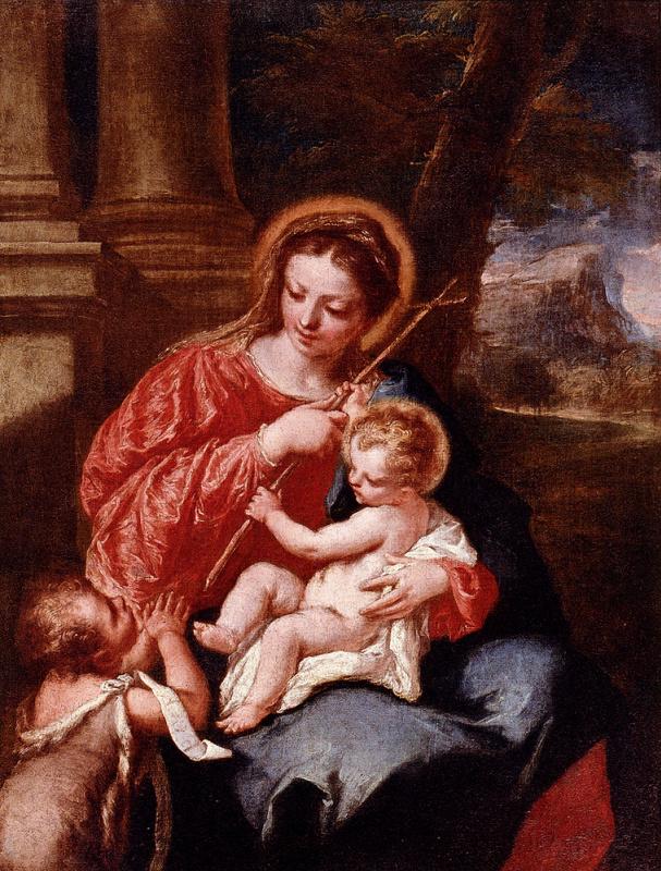 Джованни Антонио Гварди. Мадонна с младенцем и Святым Иоанном Крестителем