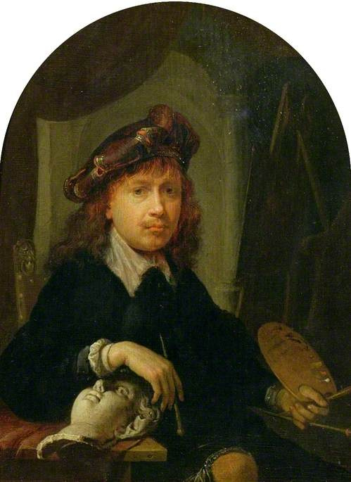 Gerrit (Gerard) Dow. Self-portrait with palette