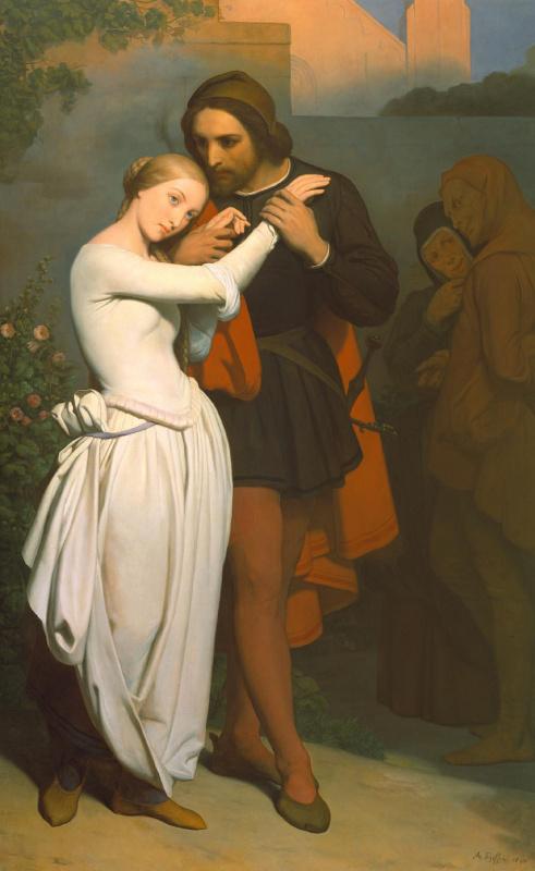 Ari Schaeffer. Faust and Marguerite in the garden