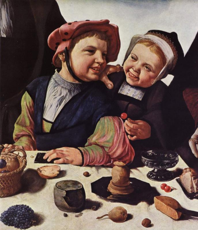 Мартен ван Хемскерк. Семейный портрет, фрагмент