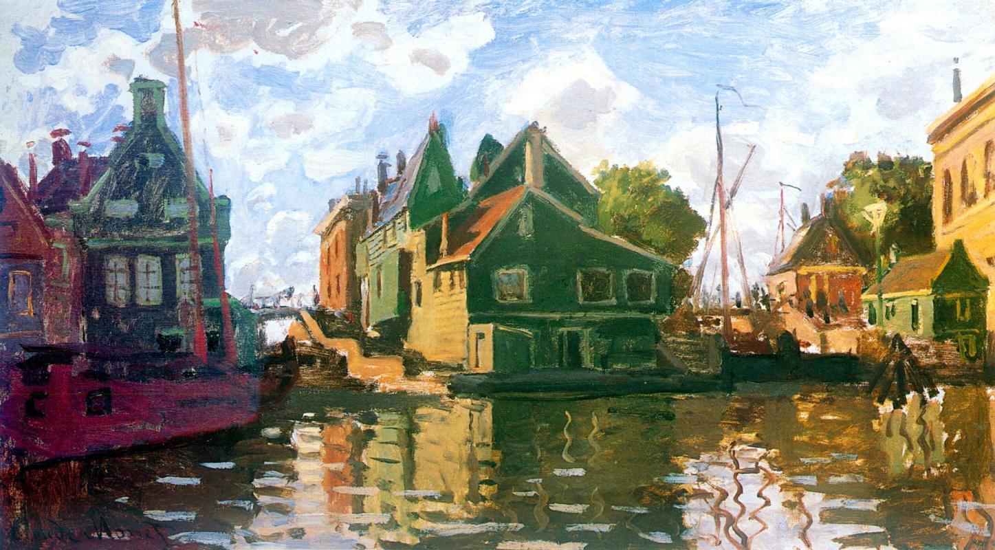 Claude Monet. Channel, Zaandam