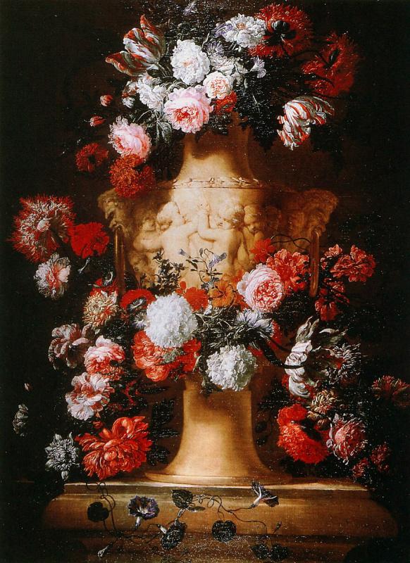 Ян Босхарт. Гирлянда вокруг вазы