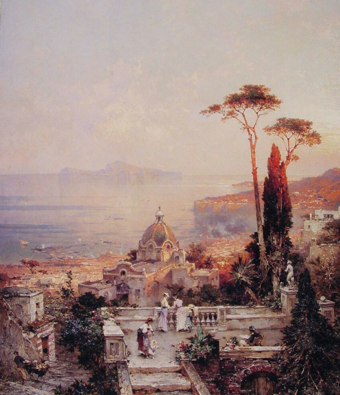 Franz Richard Unterberger. The view from the balcony
